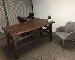 Modern Industrial Desk L Shape Brooklyn Industrial Office Desk Combining A Clean Cut