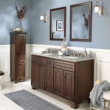 in demand brown wooden bathroom furnishings set using tall dresser