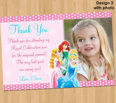 Invitation Note Cards Disney Princess Thank You Card Princess Thank You Note