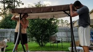 Lawn Swing Mainstays Lawson Ridge Converting Outdoor Swing Hammock Patio