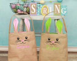 personalized easter bunnies easter bunny bag etsy