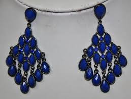 royal blue earrings sale times blue chevron top