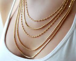 multi gold necklace images Multi layered chain necklace layering jewelry gold layered jpg
