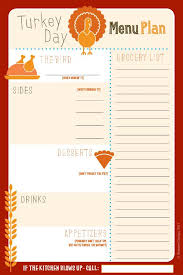 31 free thanksgiving printables menu planners frugal and