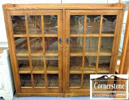 bookcase mission style bookcase with glass doors mission style