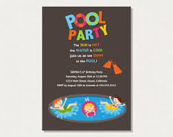 Invitation Card Samples Pool Party Invite Card Examples Momecard