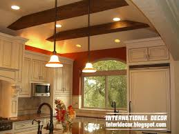 gypsum false ceiling design with wooden decoration ceiling lighting