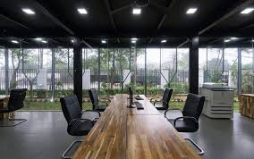 large home office office large wooden table for the modern home office industrial