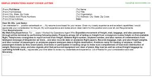 cover letter for operations operations engineer cover letter in