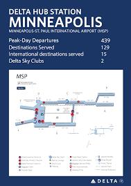 Msp Airport Terminal Map Minneapolis St Paul International Airport Delta News Hub