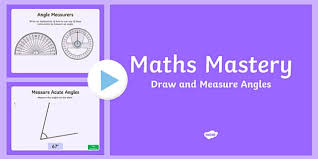 draw and measure angles maths mastery worksheet pack year 5
