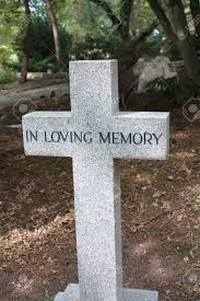 grave ornament in loving memory stock photo picture and royalty