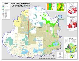 Il County Map Bull Creek Lake County Il