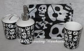 Skull Decor Skull Bathroom Set Skull Stuff Skull Decor Skull Black Skull
