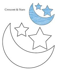 0 level crescent and stars coloring page download free 0 level