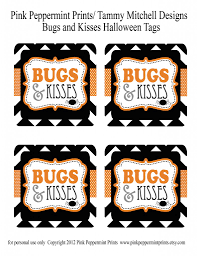 freebie free bugs and kisses halloween treat tags