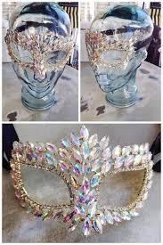 mardi gras specialty fleurty girl everything new orleans rhinestone mask iridescent