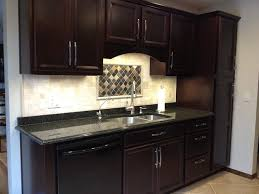 Flat Kitchen Cabinets Java Kitchen Cabinets With Maple Flat Top Bar Wood Pantry Doors