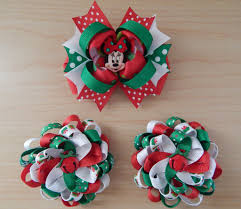 christmas hair bows minnie bow hair bows set colorfulbows