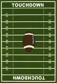 Football Field Area Rug 8 X 10 Sports Football Field Area Rug Actual Size 6 7 X 9 2