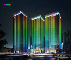 led design project design display whole building lighting by dmx512