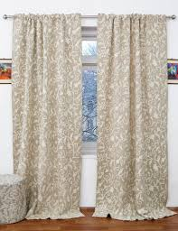 Linen Drapes Antimal Crewel Curtain Panels And Drapes Hand Embroidered Cotton