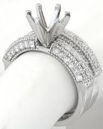 semi mount engagement rings 1 08 ctw bead set engagement semi mount ring and