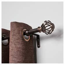 Curtain Rod Instructions Cagio Curtain Rod Set Bronze Cloud 3 4