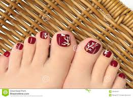burgundy pedicure royalty free stock photography image 33546437