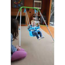 baby swing swing set sportspower indoor outdoor my first toddler swing walmart com