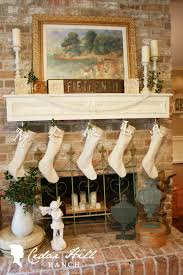 linen christmas stockings cedar hill farmhouse