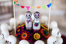 day of the dead wedding cake topper dia de los muertos wedding cake toppers poptastic funky