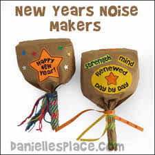 new years noise makers new year s crafts and learning activities for children