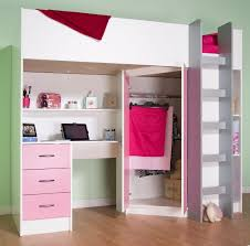 Girls Bed With Desk by High Sleeper Cabin Bed With Desk And Wardrobe Calder M2270