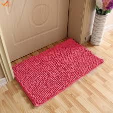 Soft Bathroom Rugs 40 60cm Soft Bath Mat Microfiber Shag Bathroom Rugs Non Slip