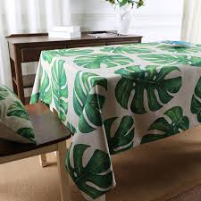 forest green table linens tropical forest botanical garden table cloth dining thick linen