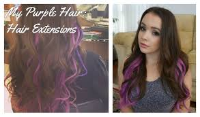 purple hair extensions all about my purple hair hair extensions makeupchameleon