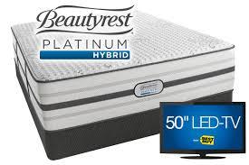 Bedroom Sets Gardner White Beautyrest Platinum Hybrid Maddie King Mattress