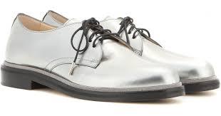 Barn Shoes Jimmy Choo Barn Metallic Leather Derby Shoes In Metallic Lyst