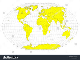 World Map No Labels by World Sphere No Labels Gray Grid Stock Illustration 362973383