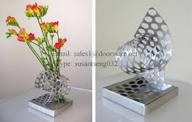 metal flower tall vase home decor decoration stainless steel large