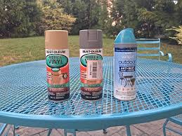 Paint Patio Furniture Metal - makeovermonday i painted our 12 year old patio furniture and