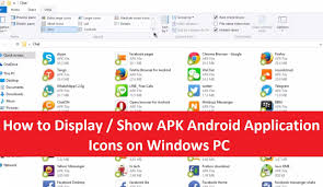 transfer apk files from pc to android how to display show apk android application icons on windows pc