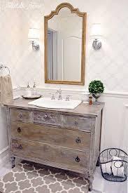 Dresser Turned Bathroom Vanity Vintage Reclaimed Wooden Sideboard Repurposed Into A Bathroom