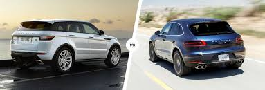 range rover truck range rover evoque vs porsche macan suv smash carwow