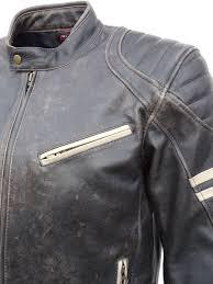 retro motorcycle jacket jts hero leather retro motorcycle jacket free uk delivery