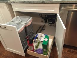 Under Desk Pull Out Drawer Trash Pullout And Drawer Under Sink Finally Installed