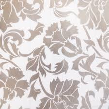 Wallpapers Home Decor Silver Peony Self Adhesive Embossed Window Film Home Decor Roll