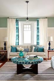 the livingroom turquoise polka dot curtains on the livingroom