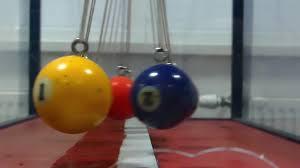 Swinging Desk Balls Swinging Plastic Colored Balls On Steel Ropes Stock Video Footage